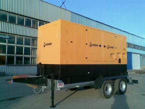 Ремаркета за мотогенератори до 450 KVA с пълна маса от 750 кг. до 11 000 кг.