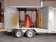 Ремаркета мобилни комплектни трансформаторни подстанции пълна маса до 11 000 кг.