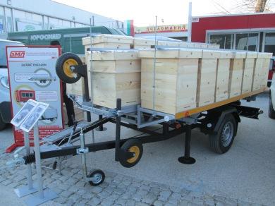 Ремарке едноосно за пчелни кошери